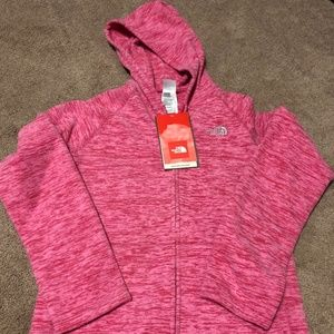 NWT Girls The North Face Pink Hooded Sweatshirt